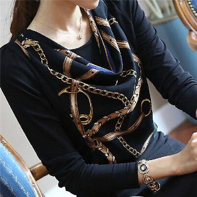 Hot Women Sexy Fashion Korean Chiffon Slim Top Hot Long Sleeve T Shirt Blouse