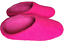 Pink Colour Felt Wool Indoor Shoes Slippers leather base UK Size 3,4,5,6,9