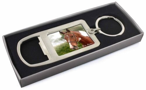 Chestnut Horse 'Love You Mum' Chrome Metal Bottle Opener Keyring in , AH8lymMBO
