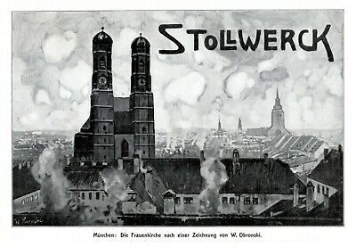 Stollwerck Chocolate German 1908 Ad Munich Frauenkirche Advertising Church Tower Wide Selection; Merchandise & Memorabilia Advertising