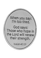 Pocket Token Peace When You Say i'm Too Tired God Says those ... Er36342