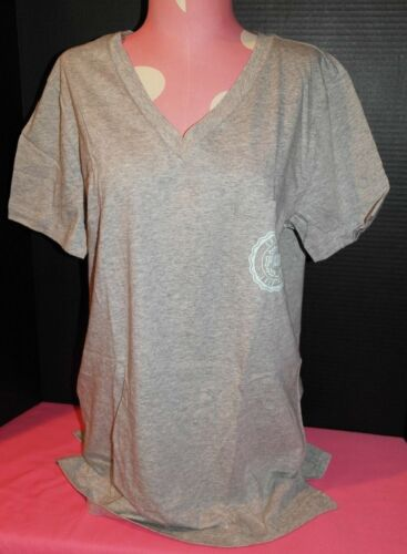 Victoria/'s Secret PINK Campus V-Neck T-Shirt *N w//o T* Grey *Small* LIT MAJOR