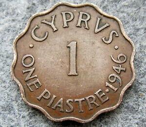 CYPRUS-GEORGE-VI-1946-1-PIASTRE