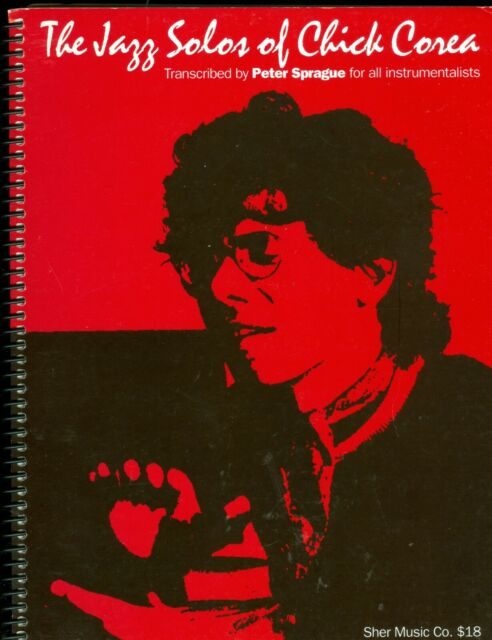 Jazz Solos Of Chick Corea sheet music songbook spiral bound 1992
