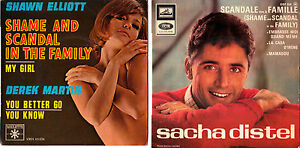 45T-Sacha-Distel-Scandale-dans-la-famille-VO-Shame-and-scandal-Shawn-Elliott