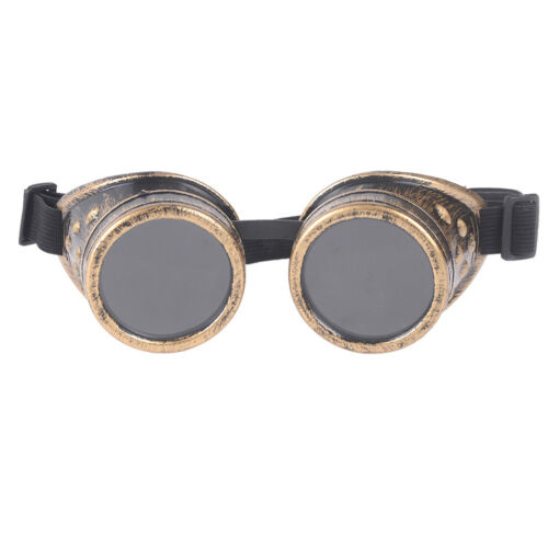 Vintage Victorian Steampunk Goggles Glasses Welding Cyber Punk Gothic Cosplay TK