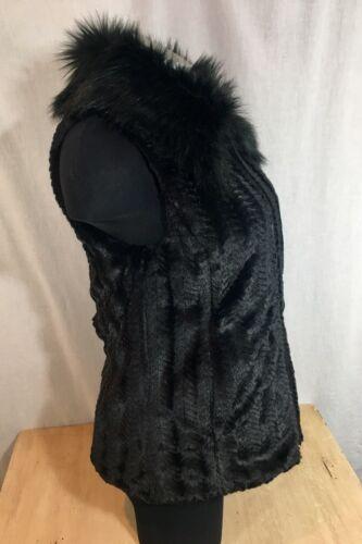 York Collar S Faux Fur Tags med Soft Sort New Kvinder Vest Marc pxg5fqSSw
