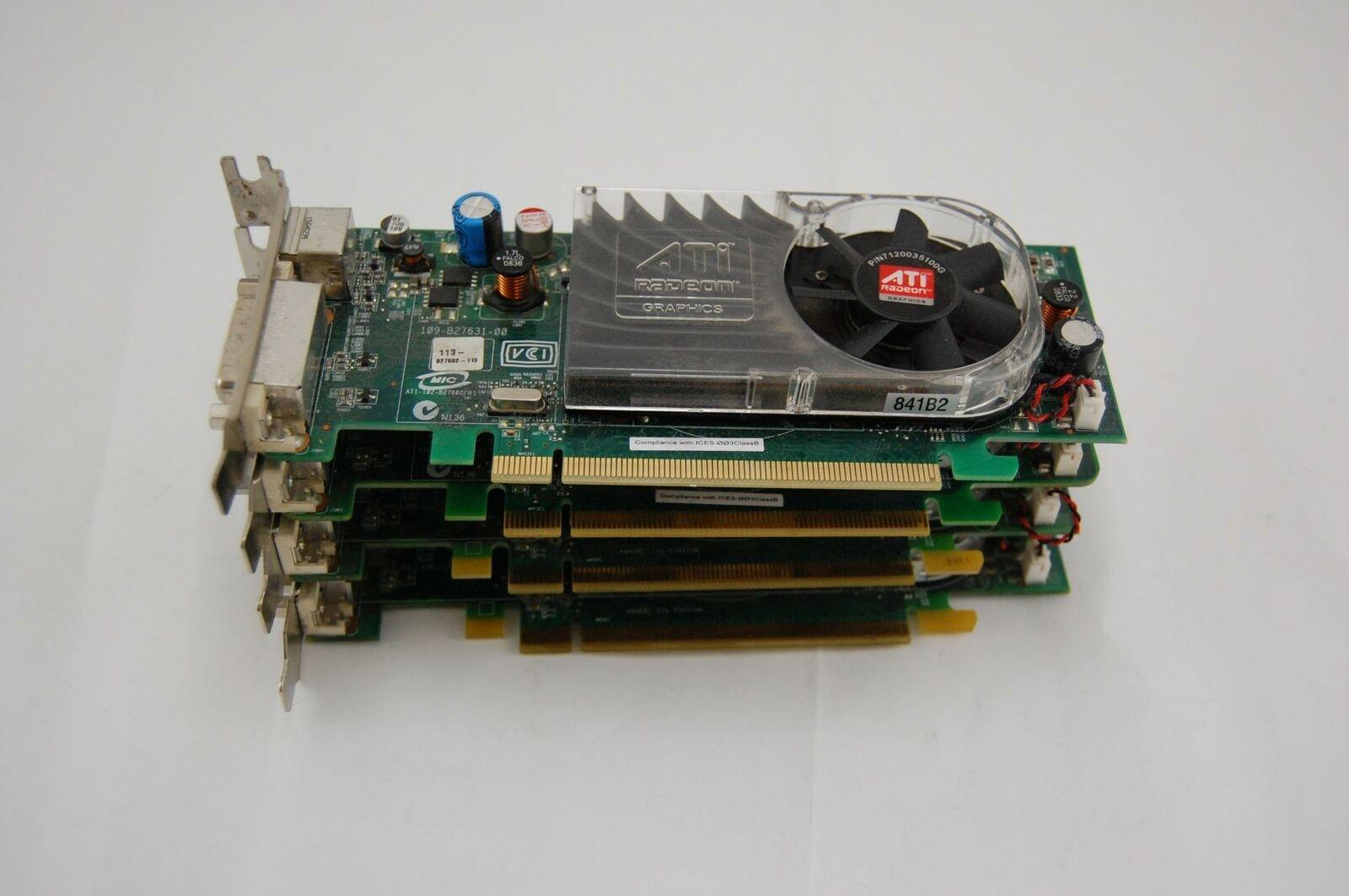Lot of 4 ATI Radeon 2400XT HD 3450 B276 B629 256MB PCI-E x16