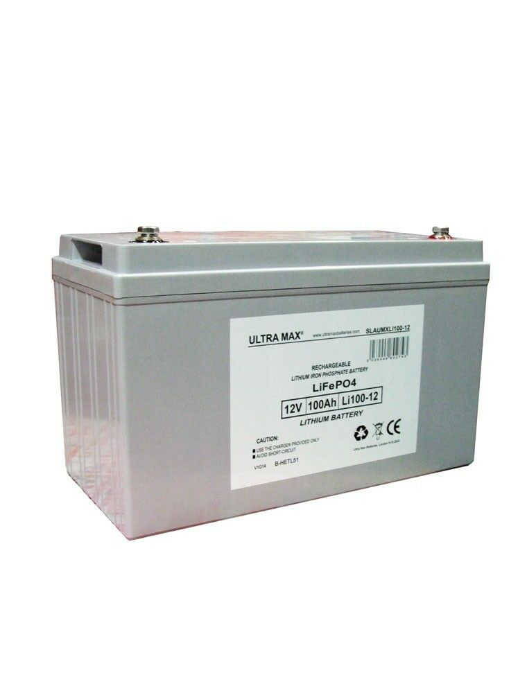 Batería de Litio 100AH 12V Voltio para Eléctricas Bicicletas