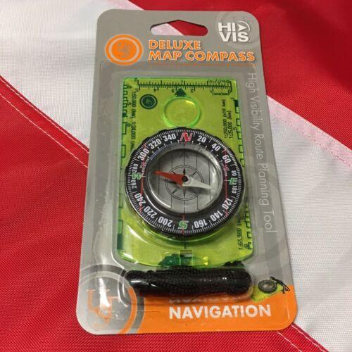 DELUXE HI VIZ MAP COMPASS survival  emergency disaster tactical prepper  UST