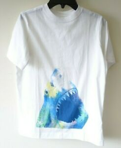 18-20 New In Bag Lands/' End White Sea Turtle Shirt Boy/'s Size XLarge