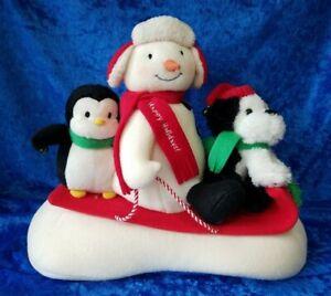 HALLMARK-SLEIGH-RIDE-SNOWMAN-PENGUIN-DOG