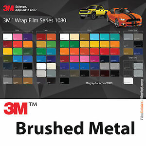 3m wrap film 1080 brushed metal different colors and dimensions car wrapping ebay. Black Bedroom Furniture Sets. Home Design Ideas