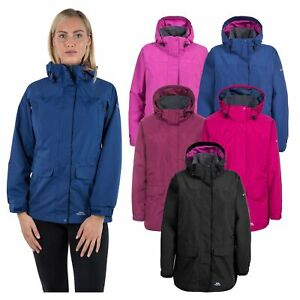 Trespass-Womens-Rain-Jacket-Longline-Waterproof-Wind-Coat-With-Hood
