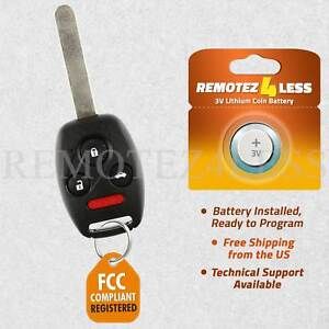 Uncut For Honda Civic SI EX Remote Key Fob Keyless Entry Replacement Transmitter
