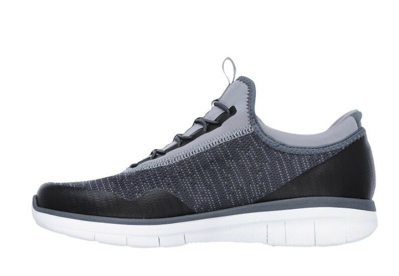 NEW Homme SKECHERS SYNERGY TURRIS CHARCOAL MEMORY FOAM 52650
