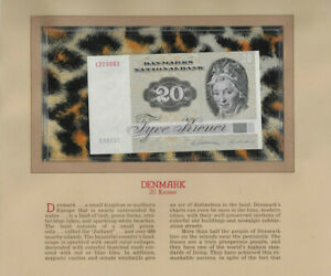 Most Treasured Banknotes Denmark 1985 20 Kroner P-49f.2 UNC A5851C