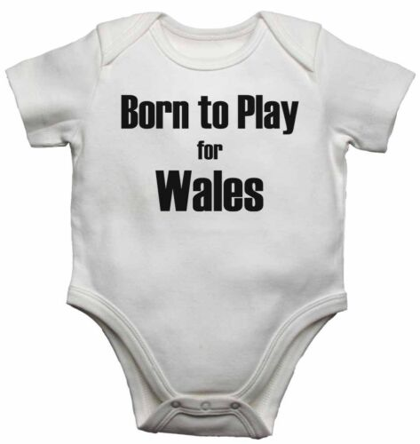 Personalised Baby Vests  Bodysuits for Boys Girls Born to Play for Wales