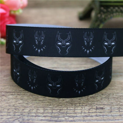 """7//8/"""" MARVEL BLACK PANTHER #3 GROSGRAIN RIBBON BY THE YARD USA SELLER"""