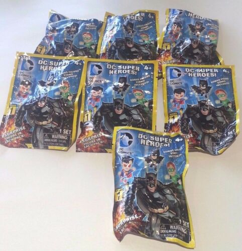 DC Super Heroes Surprise Blind Grab Zags Figures Series 1----7 Pack