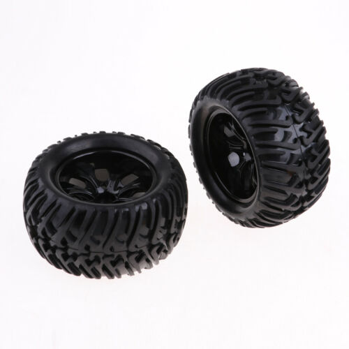 4 Pieces Rubber Tires and Plastic Wheels for 1:10 RC HSP 94111 94188 94108