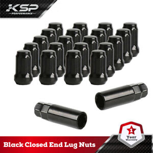 20pc-Black-Closed-end-Lug-Nuts-Aftermarket-Fits-Tuner-YJ-MK-RT-Accord-Civic-CRV