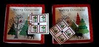 222 Fifth Pts International Merry Trees Appetizer Plate Set Of 8