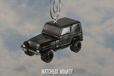 1994 Jeep Wrangler Hard Top Custom Ornament 1/64 XJ YJ Black Out Sahara