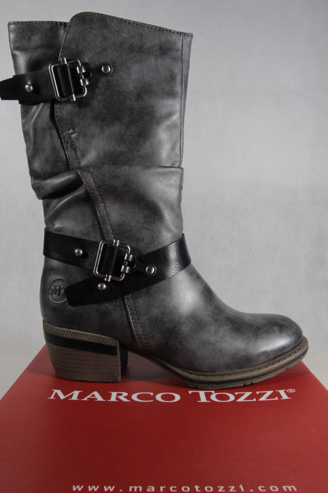 Marco Stiefel, Tozzi Stiefel, Stiefelette, Stiefel, Marco grau, gefüttert, RV NEU 7829f5