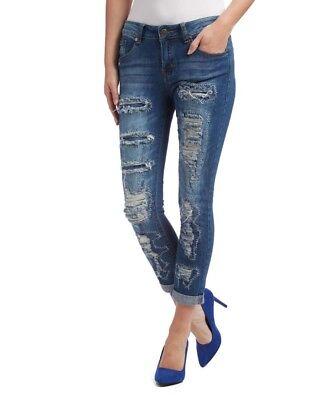 2019 Neuer Stil Blue Jeans Size 6 Torn Rip & Repair Boyfriend Cut