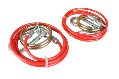 1 metre x 3mm diameter 2 Trailer Safety Breakaway Cables PVC Coated MP501B
