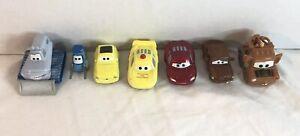 Disney-Pixar-Cars-Mini-Racers-Die-Cast-Lote-de-7-incluso-McQueen