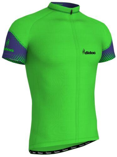 cfe58f0c8 Men s Half Sleeve Cycling Jerseys Riding T-shirts Sports Road Racing Tops  Green L