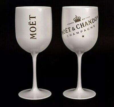 GLASS NOT PLASTIC RARE NEW MOET CHANDON ICE IMPERIAL CHAMPAGNE GLASSES
