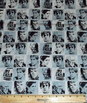 Star Wars Fabric Iron On Appliques style #5 r2d2 c3po Chewie Luke Hans Leia