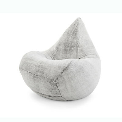 Magnificent Xlarge Grey Faux Fur Beanbag Cover Soft Fluffy Grey 300L Capacity Ebay Andrewgaddart Wooden Chair Designs For Living Room Andrewgaddartcom