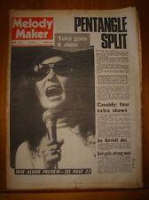 MELODY MAKER 1973 JAN 6 YOKO ONO LENNON ELTON JOHN