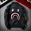 Men-BAPE-Japan-Shark-Head-Flight-Bomber-Coat-Zip-Aape-Jacket-MA1-Army-Camouflage thumbnail 2