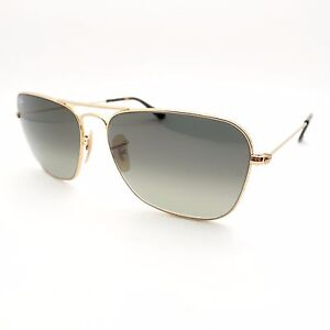 1925591fed0 Ray Ban 3136 181 71 Caravan Gold Grey New Sunglasses Authentic Made ...