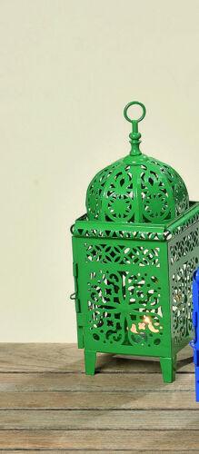 Laterne Orient Windlicht Tischlicht Metall Deko Geschenk blau grün