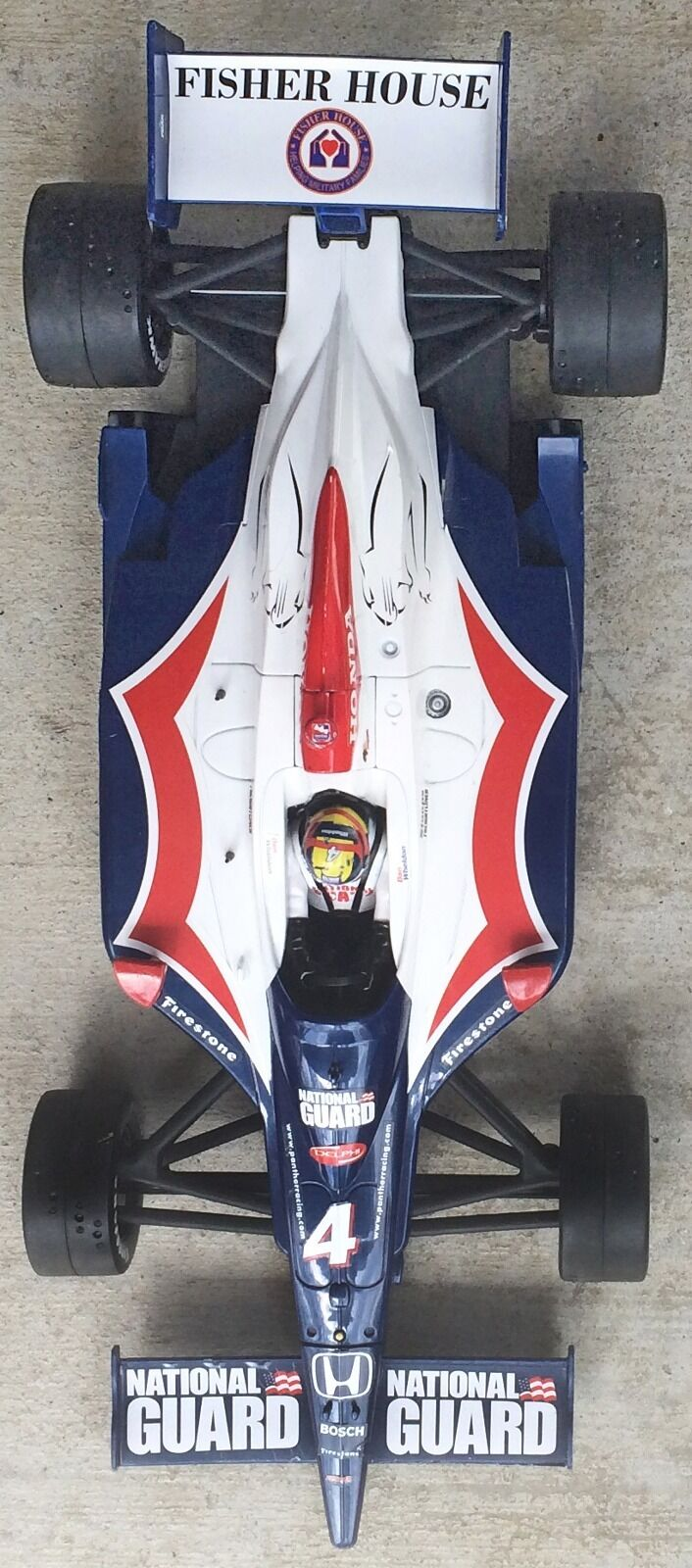 Hot Wheels-Indy 500 500 500 National Guard-Rubber Tires-Plastic Body-Approx 16 3 4   L f1edbe