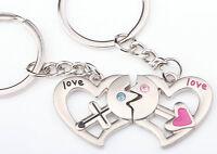 Lovers Heart + Arrow LOVE Pendant Key Chain Keyring Keychain Keyfob Lover Gift