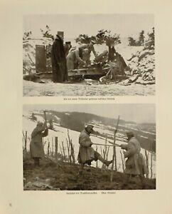 Glorieux 1916 Wwi Ww1 Imprimé Allemand Magazine ~ Soldats Fabrication Barbelé Fil RéSistance Au Froissement