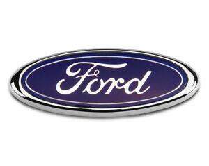 Ford-Bonnet-Boot-Badge-Transit-Focus-Van-Mondeo-150MM-x-60MM-Blue-Chrome-FR2