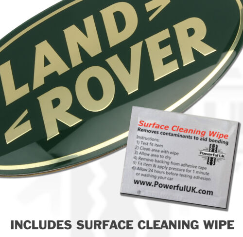 RangeRover P38 GREEN oval front grille LAND ROVER oval badge decal grille new