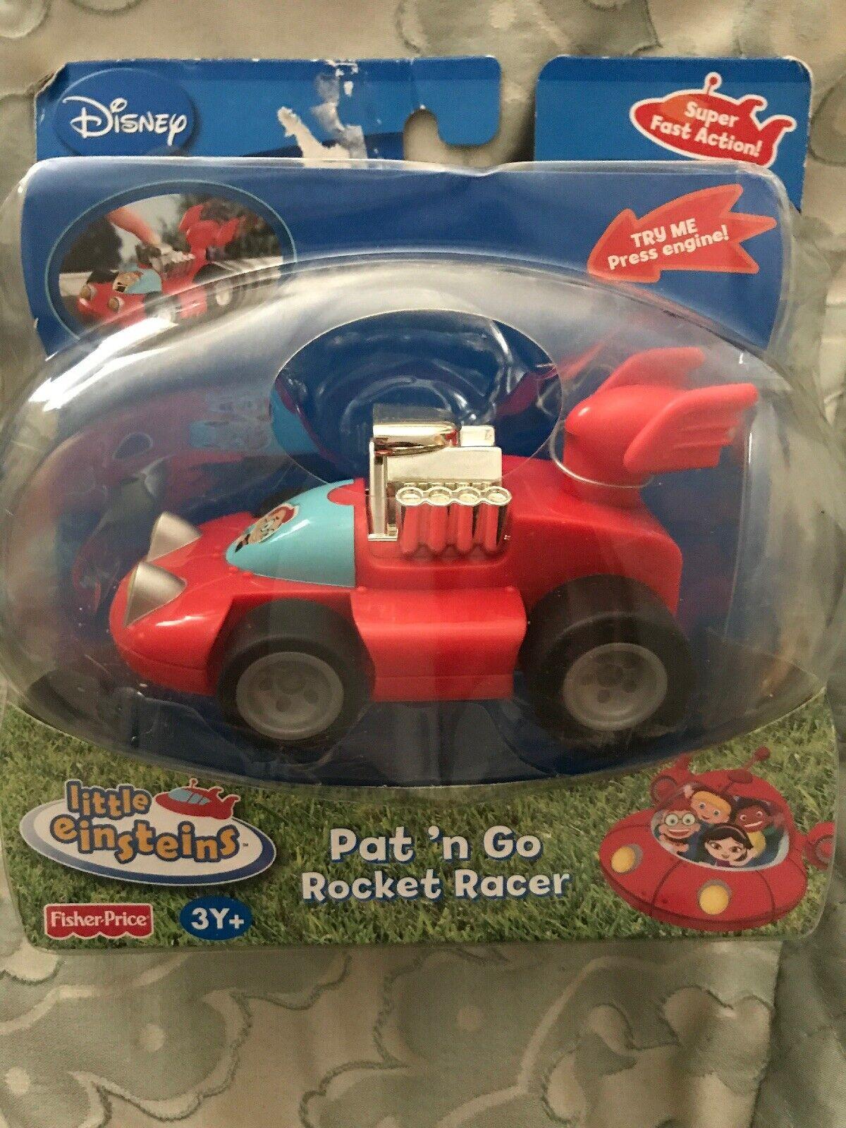 Little Einsteins Pat 'n Go Rocket rot Racer Leo Racing Car Push 'n Go Rare N7770