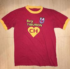 Vtg TIBURONES ROJOS Vera Cruz Futbol Soccer Jersey T-Shirt sz M/L MEDIUM