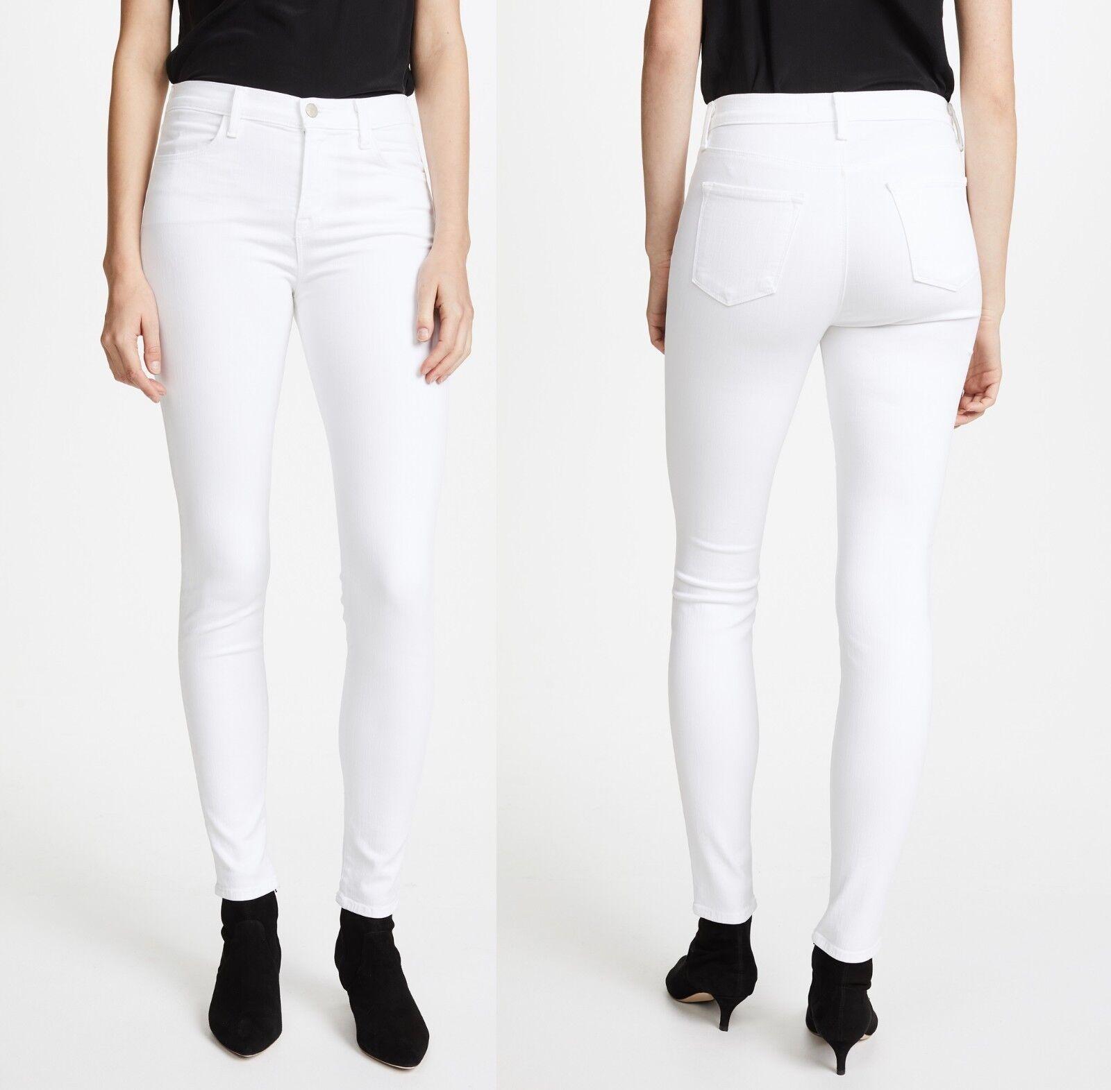 NEW J BRAND WOMEN JEANS MARIA HIGH-RISE SUPER SKINNY STRETCHY WHITE PANTS