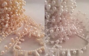 Tear-Drop-Pearls-String-Beads-Sewing-Trim-Cake-Craft-Wedding-Bridal