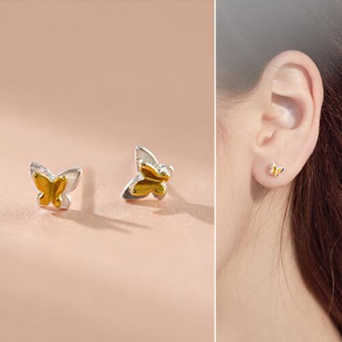 Crystal Sterling Silver Stud Ring Bar Ear Climber Cartilage Piercing Earrings